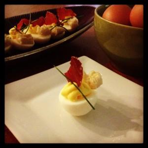 Deviled Eggs Benedict.