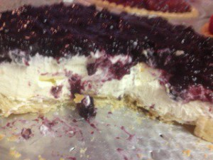 The original cream pie in blueberry. Delish.