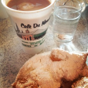 Every trip to New Orleans should begin here. If you don't have 6 inches of powdered sugar on your lap, you're doing it wrong.