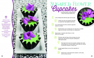 Sugared flower cupcakes